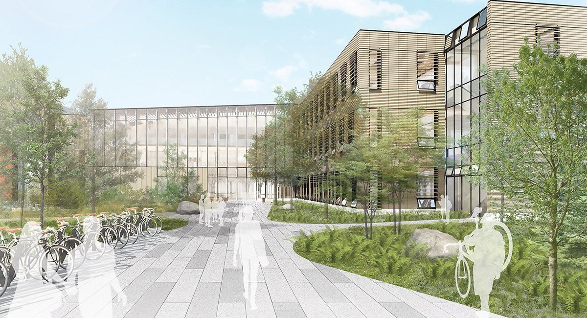 A rendering of the new Oregon Forest Science Complex.