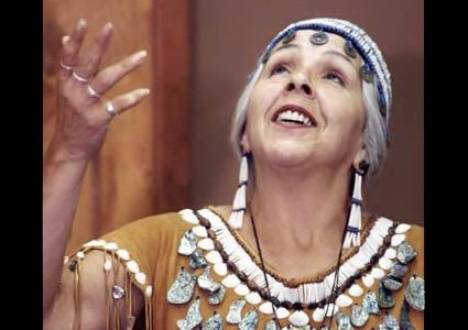 Elder Esther Stutzman, native Oregonian, traditional American Indian storyteller of Kalapuya/Coos heritage, and enrolled member of the Confederated Tribes of Siletz Indians